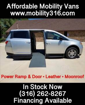 2012 Honda Odyssey EX-L w/DVD for sale at Affordable Mobility Solutions - Mobility/Wheelchair Accessible Inventory-Wichita in Wichita KS
