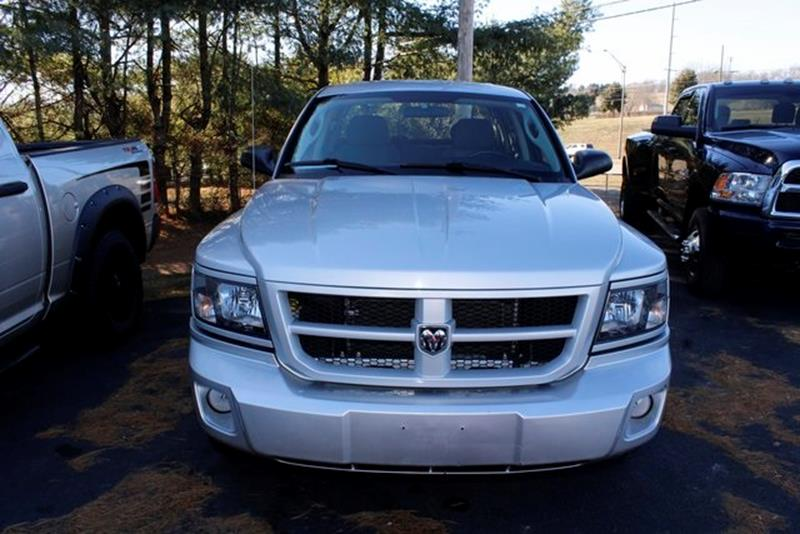 2011 RAM DAKOTA BIG HORN 4X4 4DR CREW CAB bright silver metallic clearco 2011 dodge dakota big ho