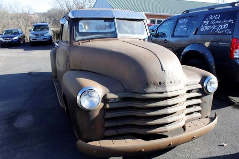 1954 CHEVROLET 3100 black recent arrival 1954 chevrolet 3100 has 1951 front end this truck has