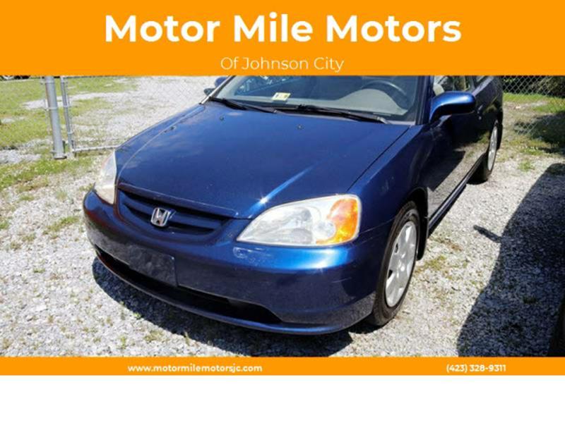 2002 Honda Civic EX 2dr Coupe   Johnson City TN