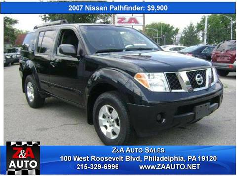 2007 Nissan Pathfinder for sale at Z & A Auto Sales in Philadelphia PA