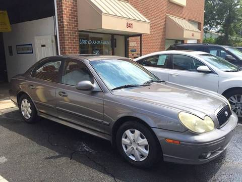 2002 Hyundai Sonata for sale at Used Cars of Fairfax LLC in Woodbridge VA