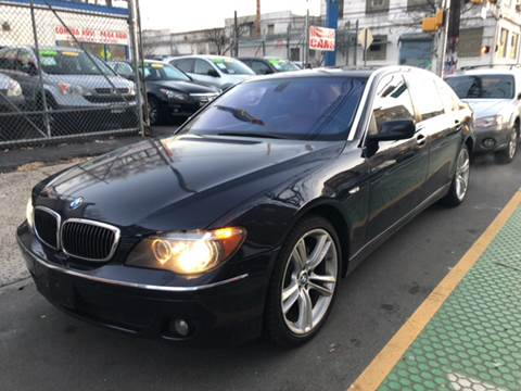 2007 BMW 7 Series for sale at DEALS ON WHEELS in Newark NJ