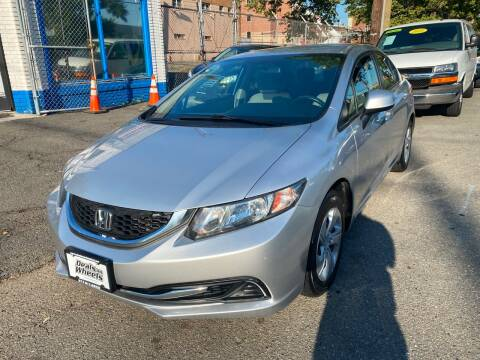 2013 Honda Civic for sale at DEALS ON WHEELS in Newark NJ