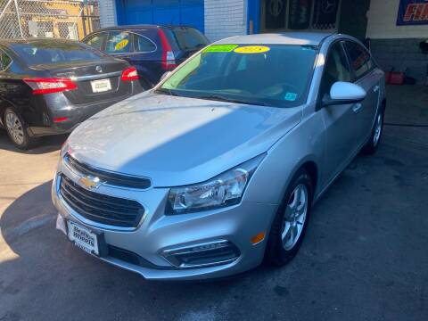 2015 Chevrolet Cruze for sale at DEALS ON WHEELS in Newark NJ