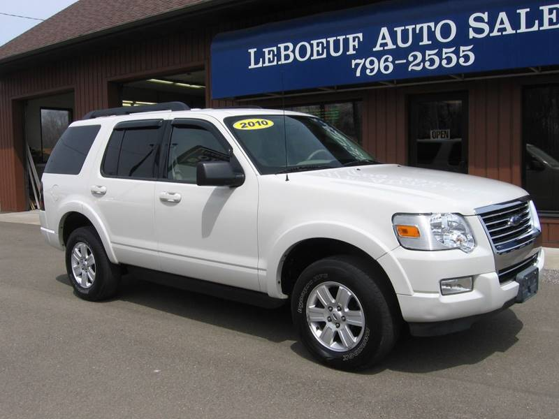 2010 ford explorer 4x4 xlt 4dr suv in waterford pa - leboeuf auto sales