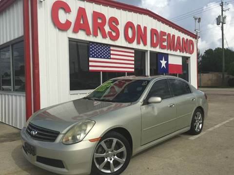 Cars On Demand >> Infiniti For Sale In Pasadena Tx Cars On Demand