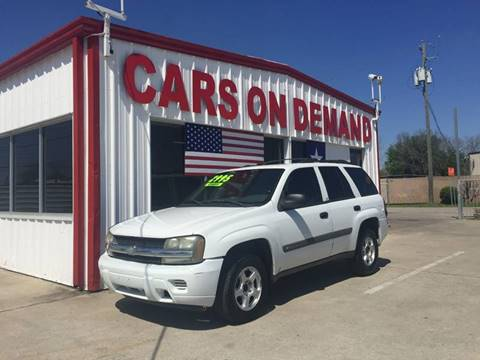 2003 Chevrolet TrailBlazer for sale at Cars On Demand 3 in Pasadena TX
