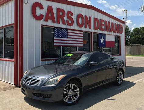 2010 Infiniti G37 Coupe for sale in Pasadena, TX