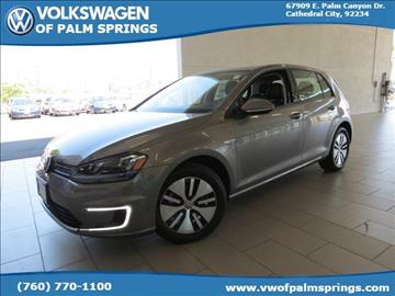 2016 Volkswagen e-Golf for sale in Cathedral City, CA