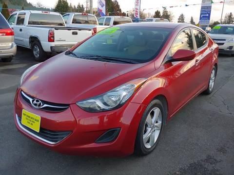 2013 Hyundai Elantra for sale at KENT GRAND AUTO SALES LLC in Kent WA