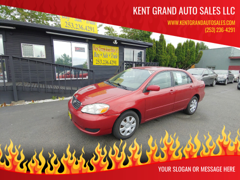 2008 Toyota Corolla for sale at KENT GRAND AUTO SALES LLC in Kent WA