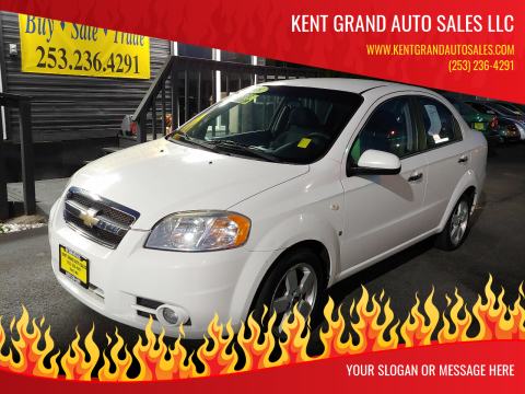 2008 Chevrolet Aveo for sale at KENT GRAND AUTO SALES LLC in Kent WA