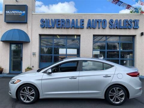 2017 Hyundai Elantra for sale at Silverdale Auto Sales II in Sellersville PA