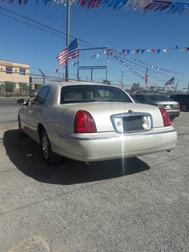2001 Lincoln Town Car for sale in El Paso, TX