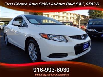 2012 Honda Civic for sale in Sacramento, CA