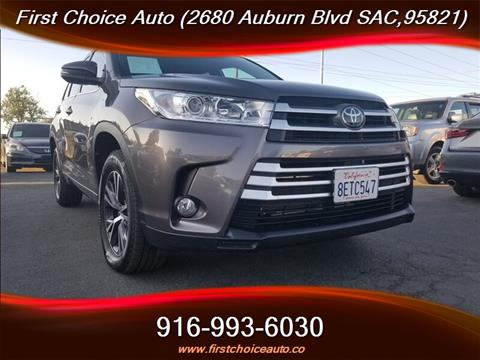 2018 Toyota Highlander for sale in Sacramento, CA