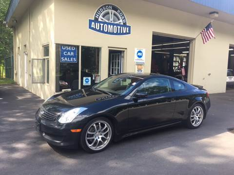 2006 Infiniti G35 for sale at HUDSON ROAD AUTOMOTIVE in Stow MA