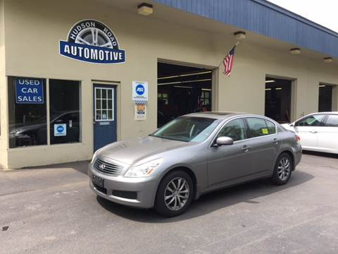 2008 Infiniti G35 for sale at HUDSON ROAD AUTOMOTIVE in Stow MA