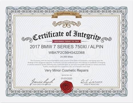 2017 BMW 7 Series