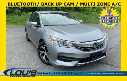 2017 Honda Accord for sale at LOU'S CAR CARE CENTER in Baldwinsville NY