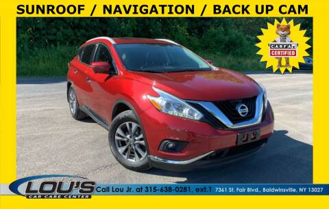 2016 Nissan Murano for sale at LOU'S CAR CARE CENTER in Baldwinsville NY