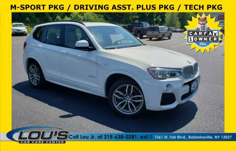 2017 BMW X3 for sale at LOU'S CAR CARE CENTER in Baldwinsville NY