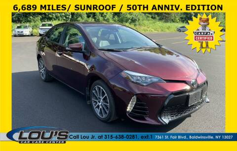 2017 Toyota Corolla for sale at LOU'S CAR CARE CENTER in Baldwinsville NY