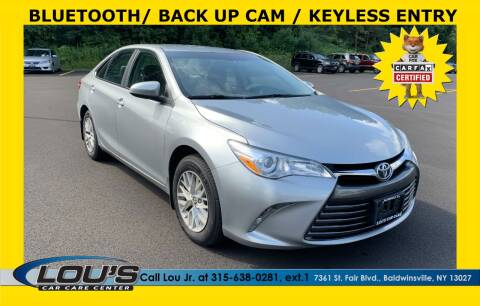 2016 Toyota Camry for sale at LOU'S CAR CARE CENTER in Baldwinsville NY