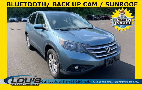 2013 Honda CR-V for sale at LOU'S CAR CARE CENTER in Baldwinsville NY