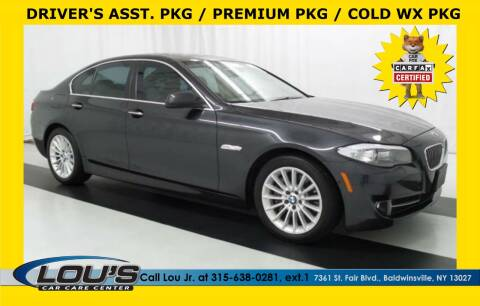 2013 BMW 5 Series for sale at LOU'S CAR CARE CENTER in Baldwinsville NY