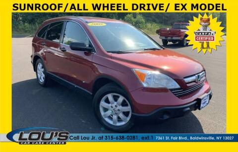 2008 Honda CR-V for sale at LOU'S CAR CARE CENTER in Baldwinsville NY