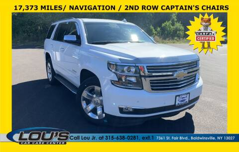 2016 Chevrolet Tahoe for sale at LOU'S CAR CARE CENTER in Baldwinsville NY