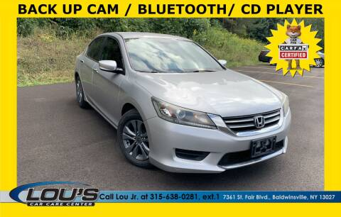 2013 Honda Accord for sale at LOU'S CAR CARE CENTER in Baldwinsville NY