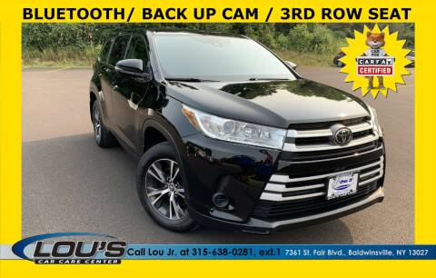 2017 Toyota Highlander for sale at LOU'S CAR CARE CENTER in Baldwinsville NY