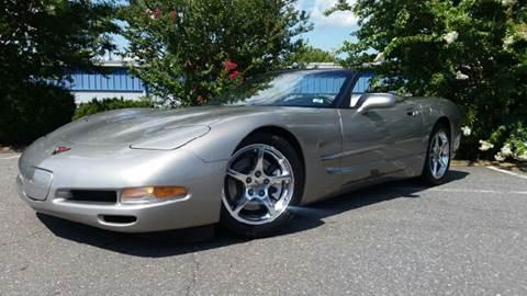 2002 Chevrolet Corvette for sale at B & J AUTO SALES in Morganton NC