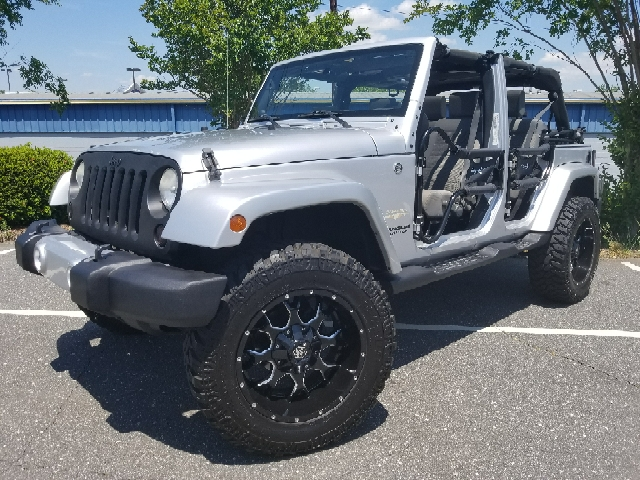 2008 Jeep Wrangler Unlimited for sale at B & J AUTO SALES in Morganton NC