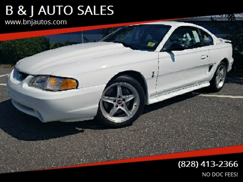 1995 Ford Mustang SVT Cobra for sale at B & J AUTO SALES in Morganton NC