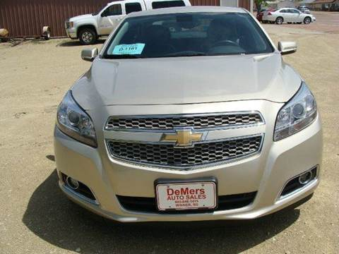2013 Chevrolet Malibu for sale at DeMers Auto Sales in Winner SD