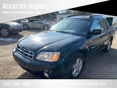 Used Subaru Denver >> 2006 Subaru Baja For Sale In Denver Co