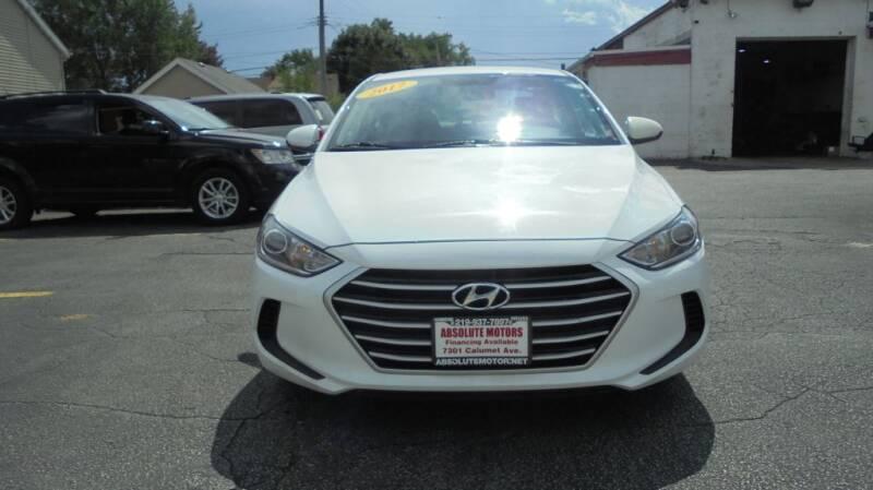 2017 Hyundai Elantra for sale at Absolute Motors 2 in Hammond IN
