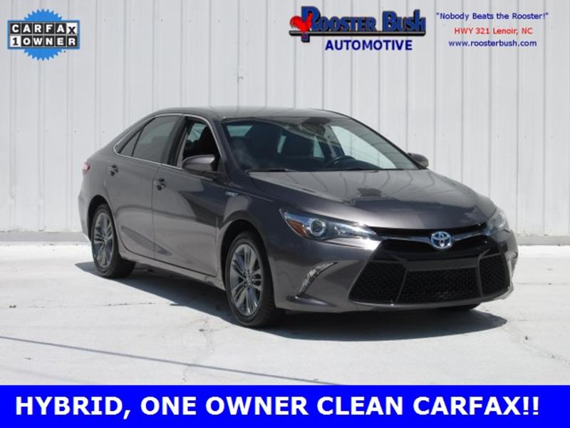 2015 Toyota Camry Hybrid for sale at Rooster Bush Automotive in Lenoir NC
