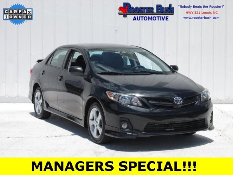 2013 Toyota Corolla for sale at Rooster Bush Automotive in Lenoir NC