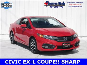 2015 Honda Civic for sale at Rooster Bush Automotive in Lenoir NC
