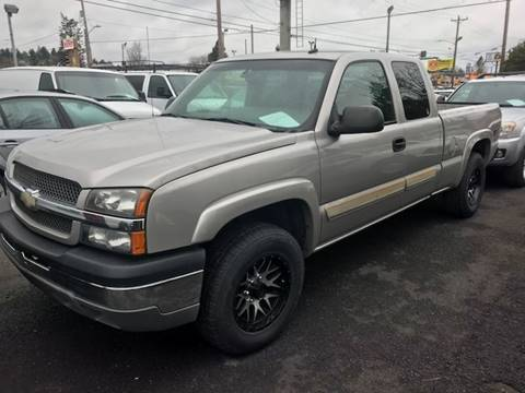 2004 Chevrolet Silverado 1500 for sale at Chuck Wise Motors in Portland OR