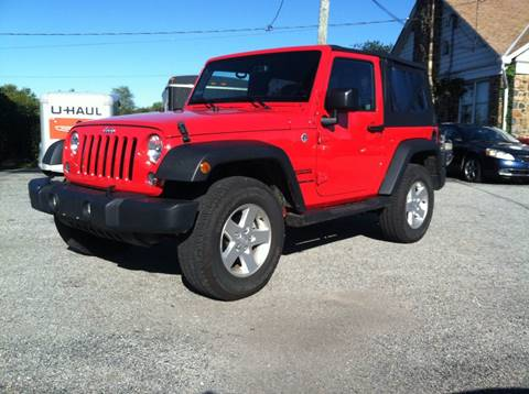 2015 Jeep Wrangler for sale at ANGELO'S AUTO SALES in New Castle DE