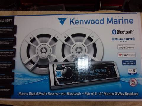 Kenwood Marine Stereo Stereo + Speakers for sale in Acme, PA
