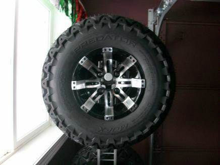10 inch Octane Wheels Machined With 22 inch Tires for sale at Area 31 Golf Carts - Wheels in Acme PA