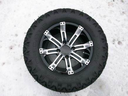 "12"" Octane Machined with 23"" Tires for sale at Area 31 Golf Carts - Wheels in Acme PA"