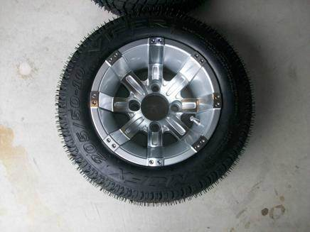 10 inch Octane Golf Cart Wheel With Low Profile Tires for sale at Area 31 Golf Carts - Wheels in Acme PA